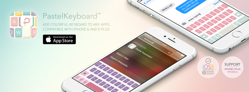 Pastel Keyboard is now available on the App Store